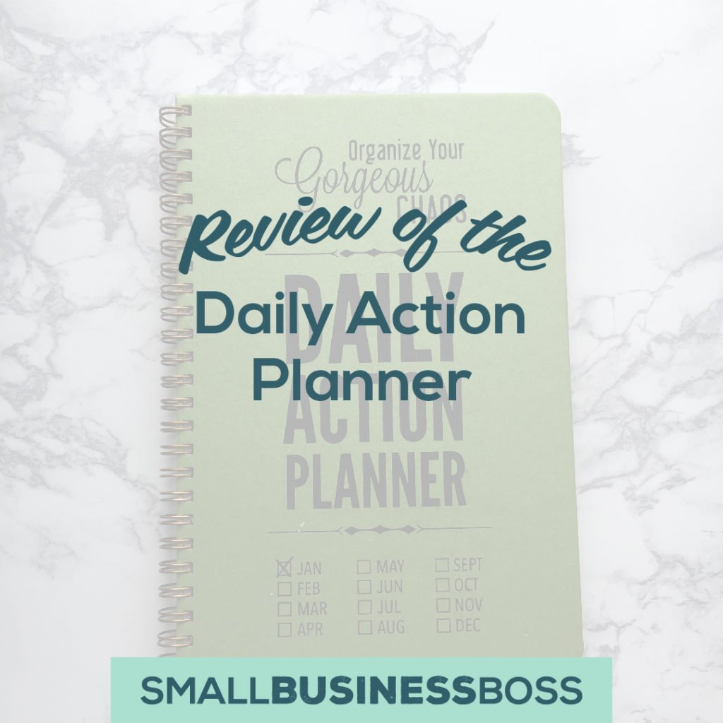 review of the daily action planner small business boss