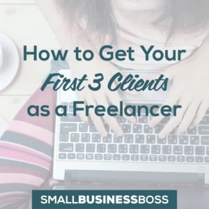 How to get your first three clients