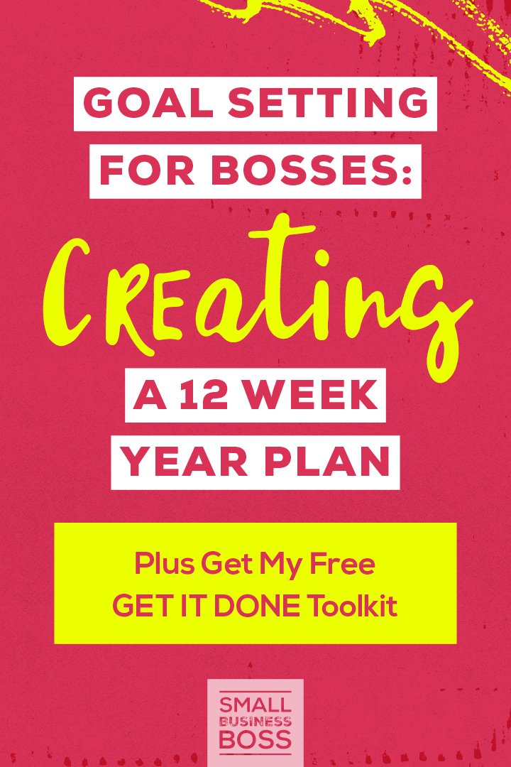 Trying to make biz plans for the future but feeling overwhelmed when you try and look six months down the road? *Pin this post for ideas on how you can leverage the 12 Week Year to make goal setting and planning easy.* #businessplanning #organized #goalsetting #12weekyear