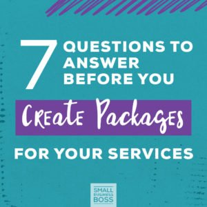 Create Packages for Your Services