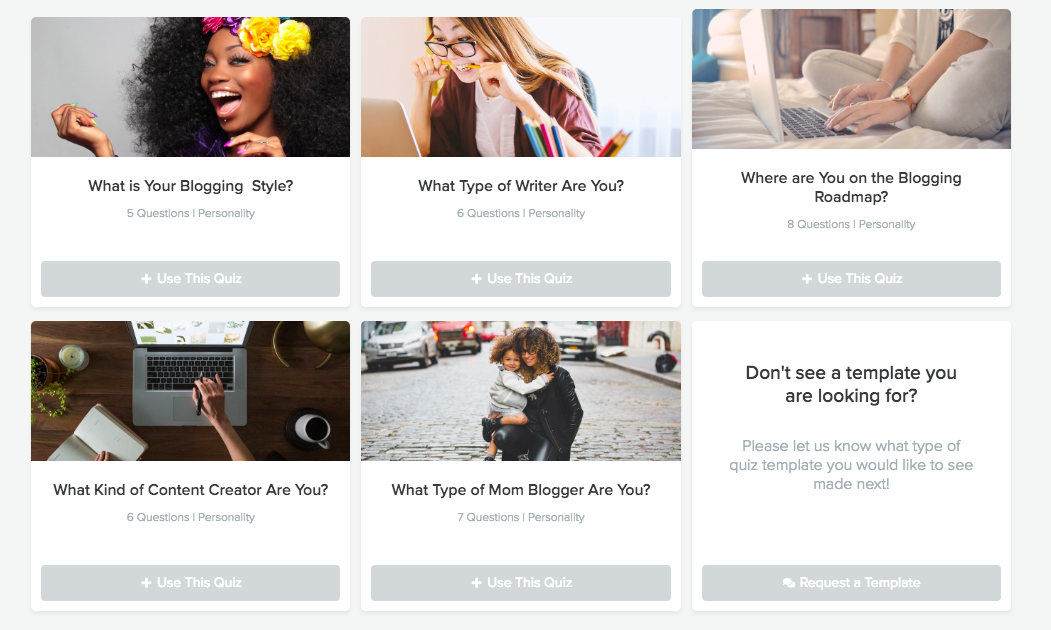 blogger quiz options