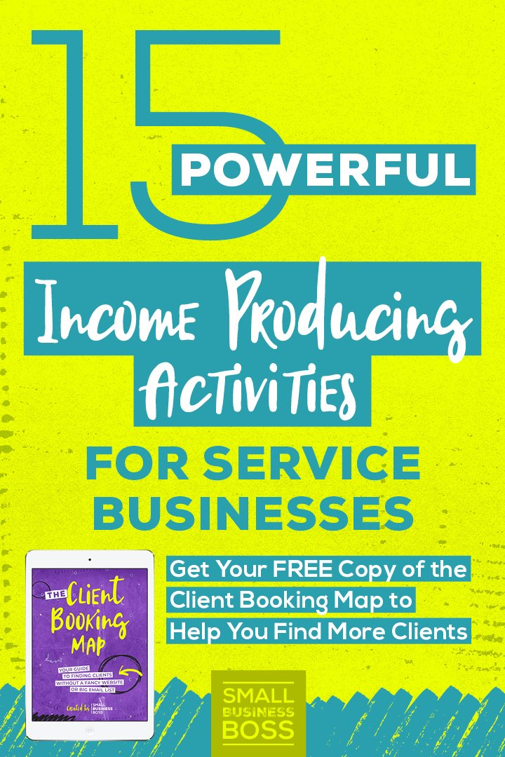 When you run a biz your time is limited, so you need to focus on the right things if you want to be profitable. *Pin this post for 15 powerful income producing activities for service businesses.* #servicesbusiness #smallbusinessboss #increaseyourincome