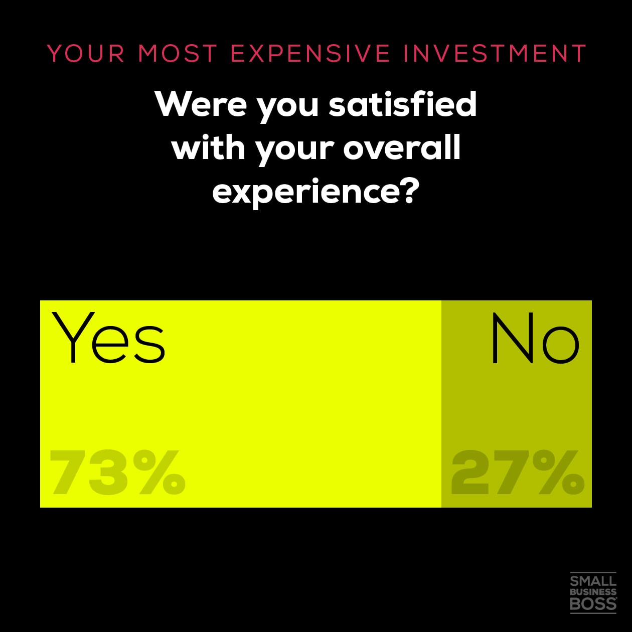 Most expensive investment-satisfied